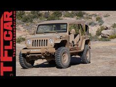 We drive the crazy cool retro Jeep Wrangler JK2A Staff Car Concept - YouTube