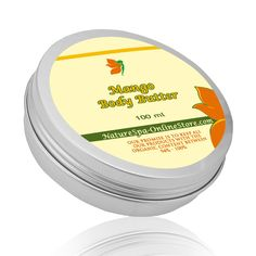 Organic Mango Body Butter Super nourishing for skin, offers optimum protection in cold season against dryness. is Made with Jojoba Oil, Green Tea Oil, Raspberry Oil to be the perfect  body butter.