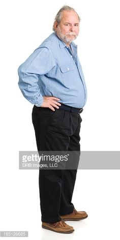 Stock Photo : Senior Man Standing With Hands On Hips