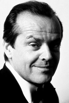 jack nicholson - with the classic arched eyebrow!