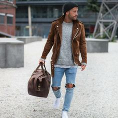 Men street style love the jacket brought to you by Tom Maslanka