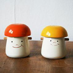 MUSHROOM SALT & PEPPER POTS  (http://www.ourworkshop-shop.co.uk/categories/1669-Vintage/products/6226-Mushroom-Salt-Pepper-Pots)