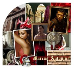 """""""Marcus Antonius & Cleopatra"""" by amarie104 ❤ liked on Polyvore featuring art"""