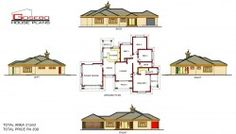 To Be Build at Ga-Masemola (Limpopo) 5 Bedroom House Plans, Family House Plans, Country House Plans, Free House Plans, House Floor Plans, Modern Bungalow House Plans, Single Storey House Plans, House Plans South Africa, Beautiful House Plans
