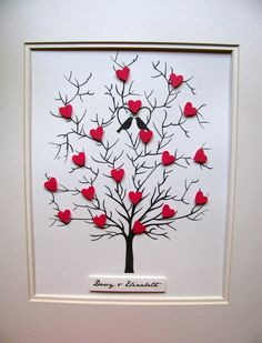 This would make a great gift to that special family member or for 8x10 tree of 3d mini hearts wedding anniversary can be personalized your choice of colors unmattedunframed made to order solutioingenieria Images