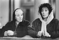 "Cher and Olympia Dukakis in Moonstruck.  ""Do ya love him Loretta? Yeah ma I love him awful"" LOVE this movie."