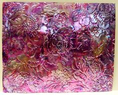 Bella Carta at Art 'n Soul  Alcohol ink on shimmer sheetz, some areas highlighted with gold