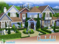 Nice big 2 storey home with basement for your sims family Found in TSR Category 'Sims 4 Residential Lots'
