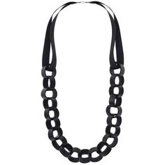 TopShop Faux Leather Circle Rope Necklace (32 CAD) ❤ liked on Polyvore featuring jewelry, necklaces, topshop jewelry, topshop, circle jewelry, circle necklace and loop necklace