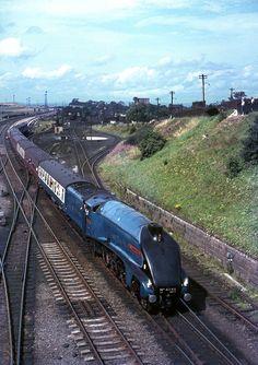 by David Christie steam engine SirNigel 1967 Steam Trains Uk, Old Steam Train, Diesel Locomotive, Steam Locomotive, Tramway, Rail Transport, Steam Railway, Rail Car, Old Trains