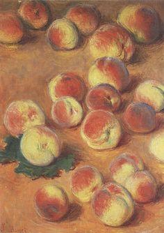 1882-85 Claude Monet Peaches(private collection)(50,5 x 37 cm)