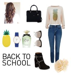 """""""For School"""" by adna-00 ❤ liked on Polyvore featuring Topshop, Wildfox, Christian Dior, Henri Bendel, Miss Selfridge, Accessorize and Dolce&Gabbana"""