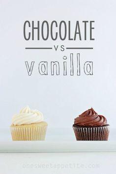 Chocolate VS Vanilla Cupcakes // Classic Chocolate Cupcake Recipe