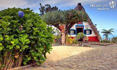 Casa típica de Santana na Ilha da Madeira - Portugal.