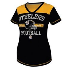 18c2d9047 Pittsburgh Steelers Champion Swagger IV Tee - Women Steelers Gear