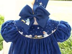 Southern Matriarch: N is for...   I like the smocking on the royal blue