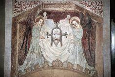c. 1400, Veronikatuch mit Engeln. Bad Wimpfen, Heiligkreuzkirche