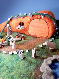 CUSTOM FOR MISONDRIA - Please do not purchase if this is not you. One large carrot house playset! Carrot measures approximately 6 inches in