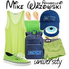 """""""Mike Wazowski"""" by annabelle-95 on Polyvore"""
