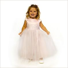 Cremona Flower Girl Dress in Baby Pink & White for girls 2-12 years | Demigella
