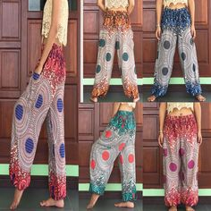 Plus womens summer yoga harem cargo girls pants mens no iron trousers elastic Harem Pants Uk, Balloon Pants, Boho Fashion Summer, Girls Pants, Trousers Mens, Iron, Clothes For Women, Bohemian Style, Casual
