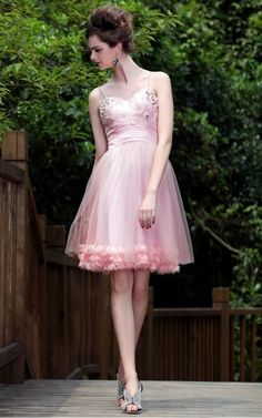 Olivia in Pink Sweetheart Embellished Short Dress - $465.00. http://www.youngrepublic.com/women/bridal/olivia-in-pink-sweetheart-embellished-short-dress.html