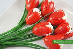 The Appetizer Tomato Tulips   Salads & Snacks   Genius cook - Healthy Nutrition, Tasty Food, Simple Recipes