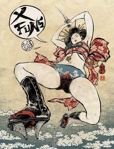 X FUNS cover illustration by Yuko Shimizu