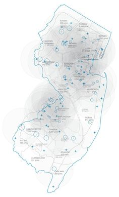 WalMart Analysis - location and use in New Jersey. By Princeton Envelope Group (PEG) of the Princeton University School of Architecture. Map Diagram, Diagram Design, Architecture Mapping, Architecture Drawings, Location Analysis, Urban Mapping, City Layout, Map Projects, Urban Analysis