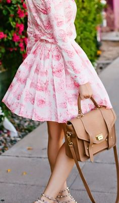 Red Valentino White And Pink Cute Butterfly Print Top And Skirt Suit by A Little Dash Of Darling
