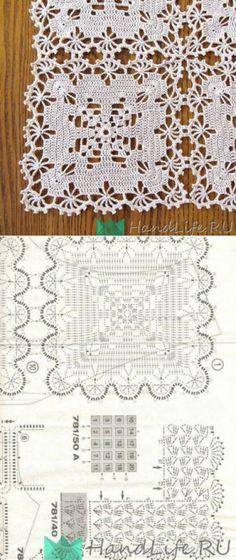 Standard yellow heart set on crochet with graphic ~ Crochet Pattern // Tatjana Andreasjan Crochet Needles, Thread Crochet, Crochet Granny, Filet Crochet, Crochet Stitches, Crochet Curtains, Crochet Tablecloth, Crochet Doilies, Crochet Lace