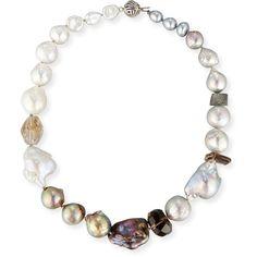 Stephen Dweck Baroque Pearl & Smoky Quartz Necklace ($790)