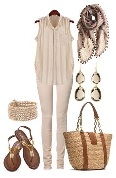 """""""Spring Neutrals"""" by lgb321 ❤ liked on Polyvore featuring CIMARRON, Faliero Sarti, MANGO, Melissa Lo and MICHAEL Michael Kors"""