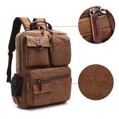 New fashion men s backpack vintage canvas backpack school bag men s travel  bags large capacity travel backpack cb144b913e9ad