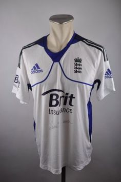 England Jersey Size M-L 42 44 Adidas Cricket Shirt Jersey Brit Formation