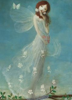 Fairy in Lace Dress by Stephen Mackey