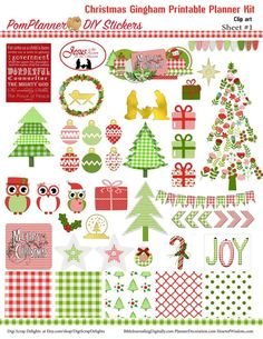 Free Christmas Planner Stickers Printable Tags #freebie #plannerlove #planneraddict