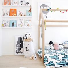 Starting the day with this fun space featuring our bear paper storage sack!! He fits just perfectly into this room styled by @wolfandfeather. You can view our storage sack variety by Swedish Tellkiddo now at the link in our bio x Have a great Thursday!!