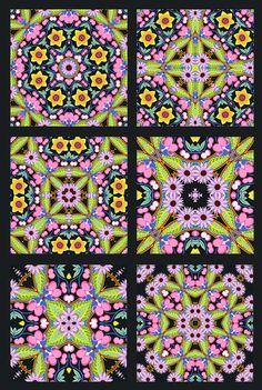 Jane Sassaman's Idea Book: July 4th Cloth Kaleidoscope Fireworks