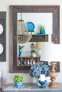 Summer Farmhouse Dining Room - Worthing Court - Featured at the Home Matters Linky Party 136