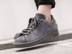Basket Adidas Stan Smith Suede Onix (1)