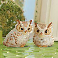 Wise Owls Salt & Pepper Shaker Set by Lenox