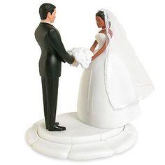 Chic Interracial Wedding Couple
