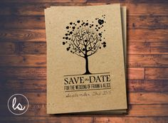 ♥-- WELCOME TO LOVE STORY INVITATIONS --♥--  This listing is for a DIY Printable version of our Tree Save the Date Invitations. This
