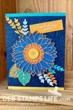 Card Making Inspiration, Autumn Inspiration, Sunflower Cards, Stampin Up Catalog, Card Maker, Cute Cards, Im Happy, Creative Art, Your Cards