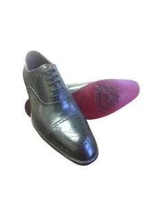 nice BLACK LEATHER CAP TOE OXFORD