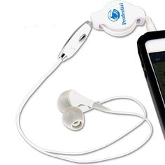 Jam to a new beat with these stereo earbuds! This noise-reducing headphone features a microphone and buttons on the cord to easily talk on the go, while the retractable cord makes for easy storage. Compatible with all kinds of smartphones and compact enough to place in a purse or car for when you're on the go! Available in white. Use these headphones with your music player, computer, at the gym, on an airplane, or wherever the music takes you.