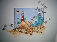 ORIGINAL Lighthouse watercolour painting £50.00