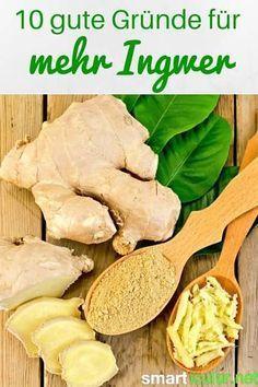 Ingwer ist eine erstaunlich vielseitige Knolle. Sie ist nicht nur ein tolles Gewürz in der Küche, sondern hilft bei vielen gesundheitlichen Problemen!