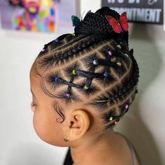 Little Girls Natural Hairstyles, Little Girl Braid Hairstyles, Toddler Braided Hairstyles, Kids Curly Hairstyles, Baby Girl Hairstyles, Mixed Kids Hairstyles, Little Girl Braid Styles, Little Girl Braids, Braids For Kids